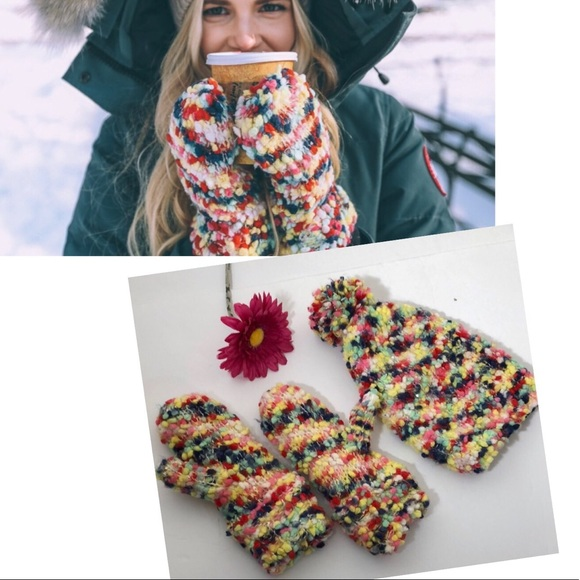 1e3955acb Anthropologie First Snow Beanie and Mittens Bundle NWT